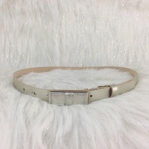 Metallic bow belt Ann Taylor size xs